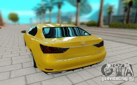 Lexus GS 350F для GTA San Andreas вид сзади
