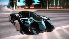 Lamborghini Egoista чёрный для GTA San Andreas