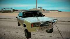 ВАЗ 2107 серебристый для GTA San Andreas