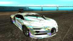 Bugatti Chiron белый для GTA San Andreas