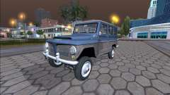 Джип Сельских Виллисы 1961 - Бразильская Версия для GTA San Andreas