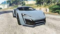 W Motors Lykan HyperSport 2014 v1.3 [replace] для GTA 5