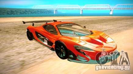 McLaren P1 GTR чёрный для GTA San Andreas
