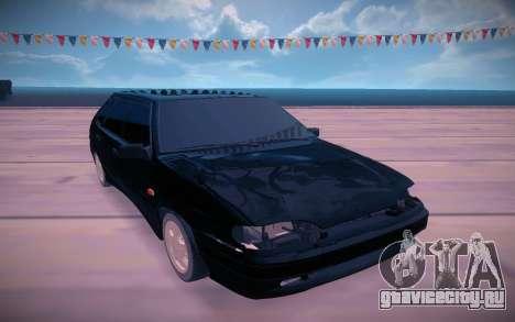 ВАЗ 2114 чёрный для GTA San Andreas