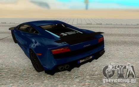 Lamborghini Gallardo Superleggera для GTA San Andreas вид справа