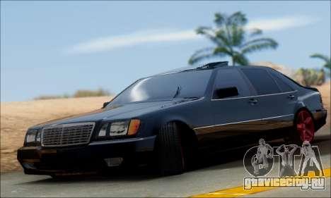 Mercedes-Benz W140 S600 TUNING для GTA San Andreas вид изнутри