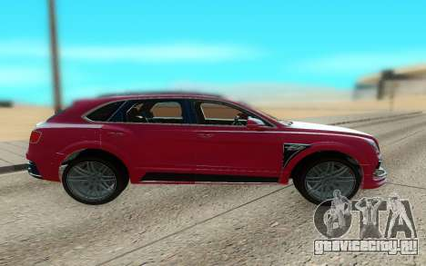 Bentley Bentayga Startech для GTA San Andreas вид слева