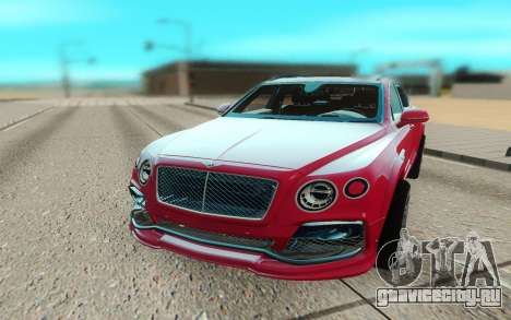 Bentley Bentayga Startech для GTA San Andreas вид сзади