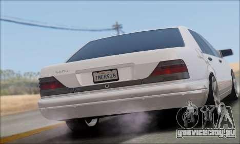Mercedes-Benz W140 S600 TUNING для GTA San Andreas вид слева