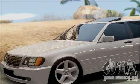 Mercedes-Benz W140 S600 TUNING для GTA San Andreas вид сзади