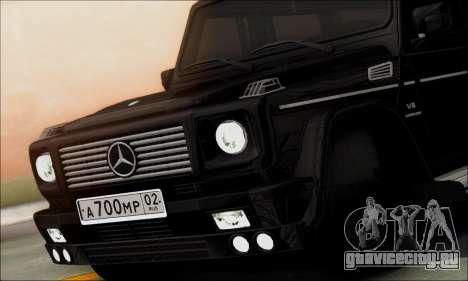 Mercedes G55 XXL для GTA San Andreas вид справа
