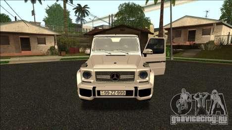 Mercedes-Benz G65 Azerbaijan Edition для GTA San Andreas вид слева