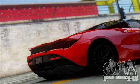 McLaren 720S для GTA San Andreas вид сзади слева