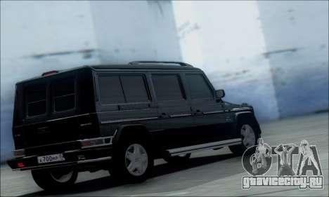 Mercedes G55 XXL для GTA San Andreas вид слева