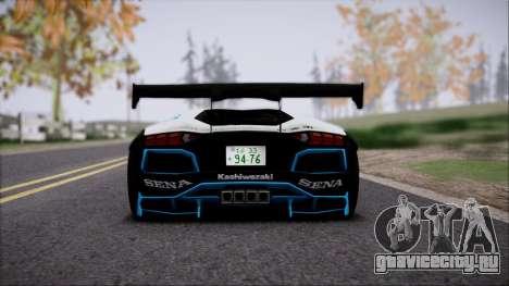 Lamborghini Aventador v3 для GTA San Andreas вид сзади