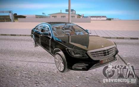 Mercedes Benz S560 W222 4matic для GTA San Andreas