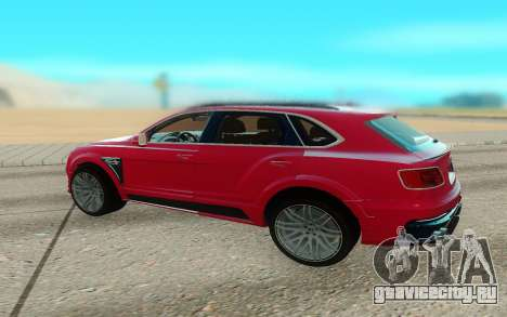 Bentley Bentayga Startech для GTA San Andreas вид сзади слева
