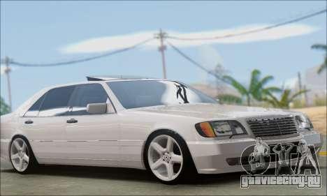 Mercedes-Benz W140 S600 TUNING для GTA San Andreas вид справа