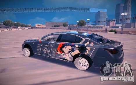 Lexus GS350 F Sport для GTA San Andreas