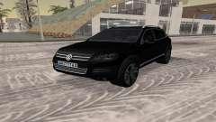 Volkswagen Touareg чёрный для GTA San Andreas