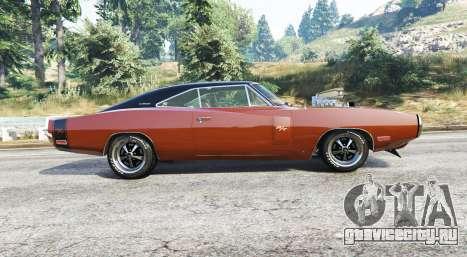 Dodge Charger RT (XS29) 1970 v4.0 [replace] для GTA 5 вид слева
