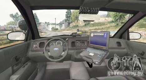 Ford Crown Victoria LSPD [replace] для GTA 5 вид сзади справа