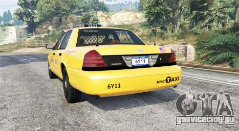 Ford Crown Victoria Undercover Police [replace] для GTA 5 вид сзади слева