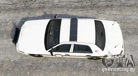 Ford Crown Victoria State Trooper [replace] для GTA 5 вид сзади