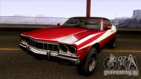GTA V Declasse Sabre GT3 Starsky & Hutch для GTA San Andreas