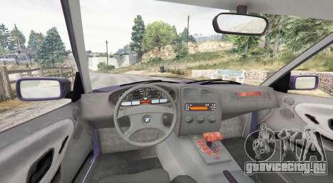 BMW M3 (E36) Touring v2.0 [replace] для GTA 5 вид сзади справа