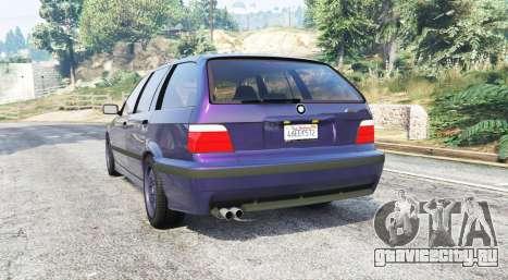 BMW M3 (E36) Touring v2.0 [replace] для GTA 5 вид сзади слева