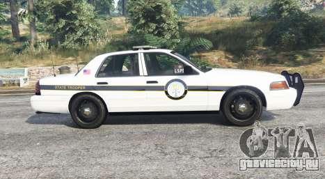 Ford Crown Victoria State Trooper [replace] для GTA 5 вид слева