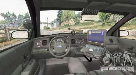 Ford Crown Victoria State Trooper [replace] для GTA 5 вид сзади справа