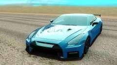 Nissan GTR NISMO голубой для GTA San Andreas