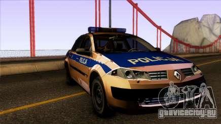 Renault Polskiej Policji для GTA San Andreas