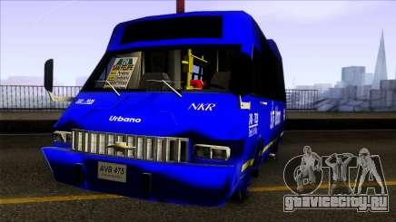 Microbus Chevrolet (SITP De Bogota) для GTA San Andreas