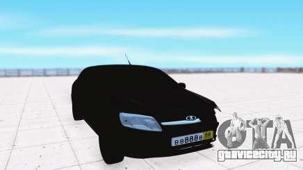 Lada Granta чёрный для GTA San Andreas