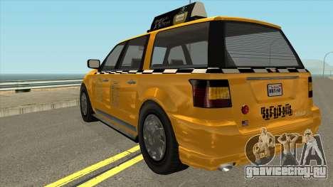 GTA V Vapid Taxi IVF для GTA San Andreas вид сзади слева