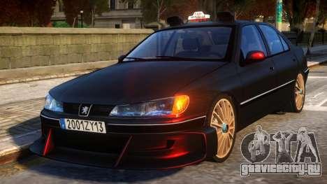 Peugeot 406 Taxi 2 Final для GTA 4