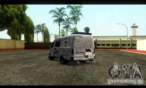 ГАЗ 22172 Соболь БК для GTA San Andreas вид сзади слева