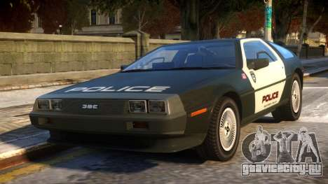 DeLorean DMC-12 Police для GTA 4