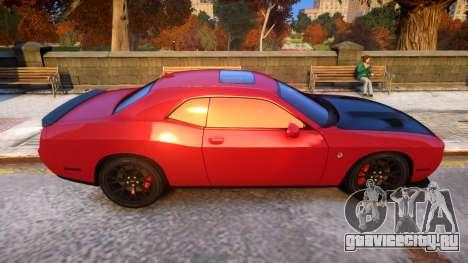 2015 Dodge Challenger SRT Hellcat v1.0 для GTA 4 вид сзади