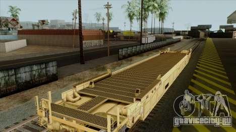 Вагон-платформа (желтый окрас) для GTA San Andreas