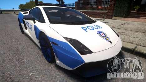 Lamborghini Gallardo LP570-4 2011 Turkey Police для GTA 4