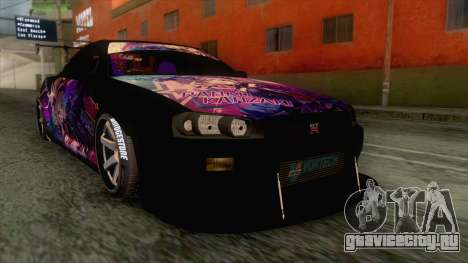Nissan Skyline R34 Itasha Kanzaki Ran IVF для GTA San Andreas
