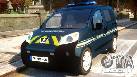 Peugeot Bipper Gendarmerie для GTA 4