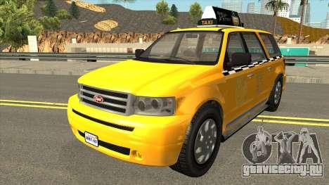 GTA V Vapid Taxi IVF для GTA San Andreas