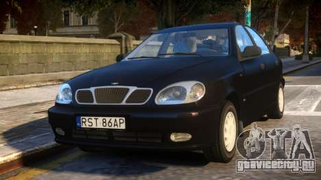 Daewoo Lanos Sedan SX PL 1997 для GTA 4