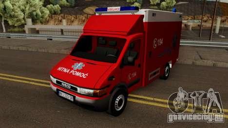 Iveco Daily Mk2 Hitna Pomoc (RTW) для GTA San Andreas