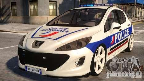 Peugeot 308 GTi Police Nationale для GTA 4